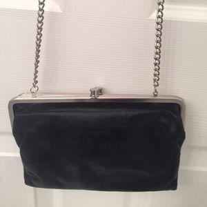 Hobo brand cross body/clutch black leather bag